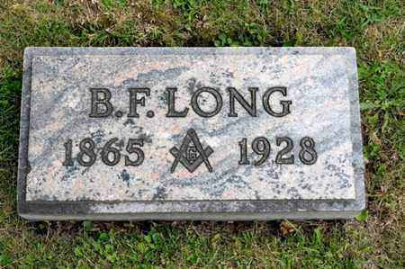 LONG, B F - Richland County, Ohio | B F LONG - Ohio Gravestone Photos
