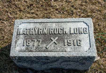 ROCK LONG, KATHRYN - Richland County, Ohio | KATHRYN ROCK LONG - Ohio Gravestone Photos