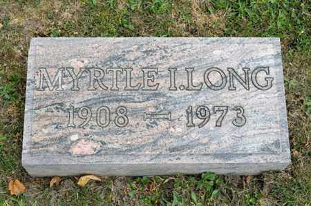 LONG, MYRTLE I - Richland County, Ohio | MYRTLE I LONG - Ohio Gravestone Photos