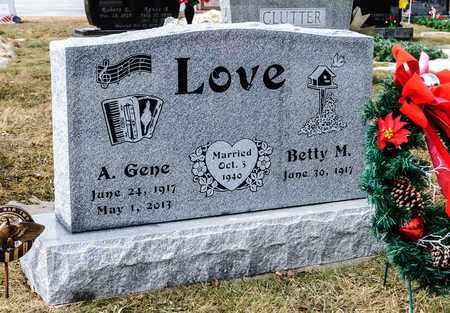 LOVE, A GENE - Richland County, Ohio | A GENE LOVE - Ohio Gravestone Photos