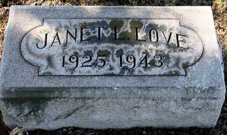 LOVE, JANET L - Richland County, Ohio | JANET L LOVE - Ohio Gravestone Photos