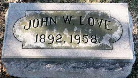 LOVE, JOHN W - Richland County, Ohio | JOHN W LOVE - Ohio Gravestone Photos