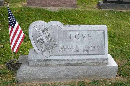 LOVE, JACQUE P - Richland County, Ohio | JACQUE P LOVE - Ohio Gravestone Photos