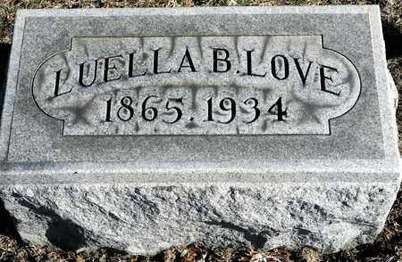 LOVE, LUELLA B - Richland County, Ohio | LUELLA B LOVE - Ohio Gravestone Photos
