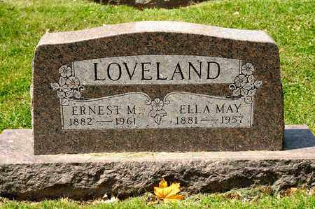 LOVELAND, ELLA MAY - Richland County, Ohio | ELLA MAY LOVELAND - Ohio Gravestone Photos