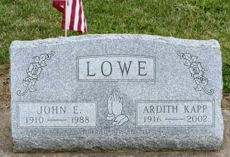 LOWE, ARDITH - Richland County, Ohio | ARDITH LOWE - Ohio Gravestone Photos