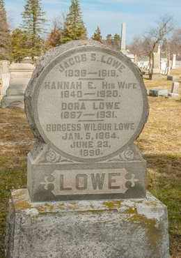 LOWE, BURGESS WILBUR - Richland County, Ohio | BURGESS WILBUR LOWE - Ohio Gravestone Photos