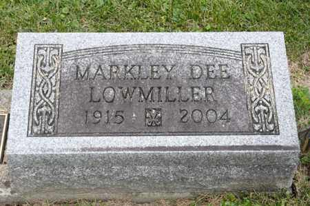LOWMILLER, MARKLEY DEE - Richland County, Ohio | MARKLEY DEE LOWMILLER - Ohio Gravestone Photos