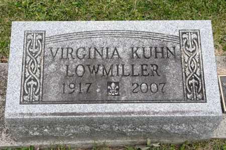 KUHN LOWMILLER, VIRGINIA - Richland County, Ohio | VIRGINIA KUHN LOWMILLER - Ohio Gravestone Photos