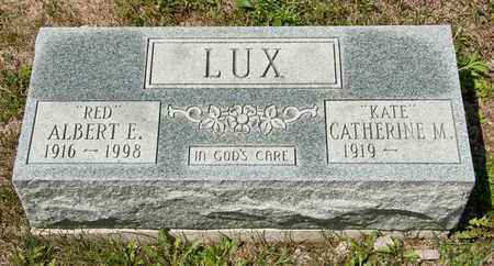 LUX, ALBERT E - Richland County, Ohio | ALBERT E LUX - Ohio Gravestone Photos