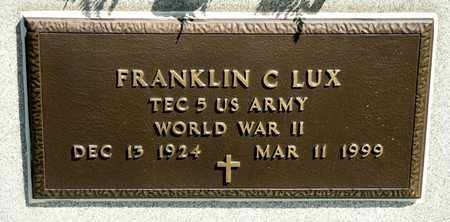 LUX, FRANKLIN C - Richland County, Ohio | FRANKLIN C LUX - Ohio Gravestone Photos