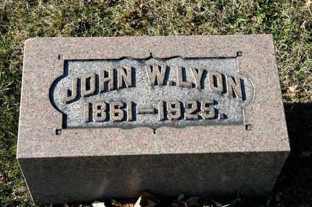 LYON, JOHN W - Richland County, Ohio | JOHN W LYON - Ohio Gravestone Photos