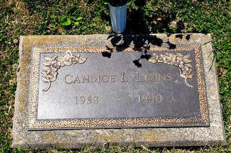 LYONS, CANDICE L - Richland County, Ohio | CANDICE L LYONS - Ohio Gravestone Photos
