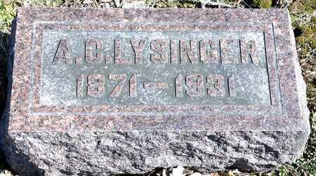 LYSINGER, A C - Richland County, Ohio | A C LYSINGER - Ohio Gravestone Photos