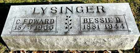 LYSINGER, C EDWARD - Richland County, Ohio | C EDWARD LYSINGER - Ohio Gravestone Photos
