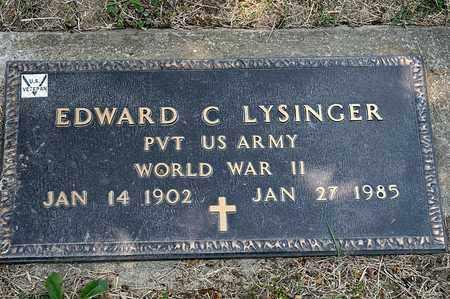 LYSINGER, EDWARD C - Richland County, Ohio | EDWARD C LYSINGER - Ohio Gravestone Photos
