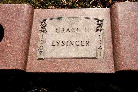 LYSINGER, GRACE I - Richland County, Ohio | GRACE I LYSINGER - Ohio Gravestone Photos