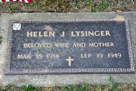 LYSINGER, HELEN J - Richland County, Ohio | HELEN J LYSINGER - Ohio Gravestone Photos