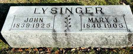 LYSINGER, MARY J - Richland County, Ohio | MARY J LYSINGER - Ohio Gravestone Photos