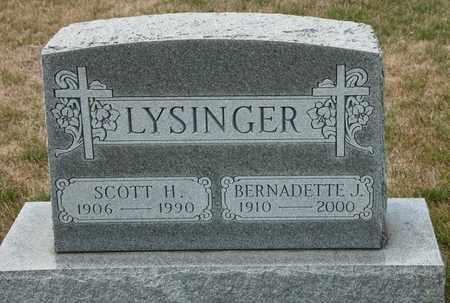 LYSINGER, BERNADETTE J - Richland County, Ohio | BERNADETTE J LYSINGER - Ohio Gravestone Photos