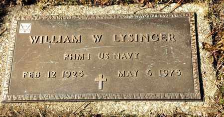 LYSINGER, WILLIAM W - Richland County, Ohio | WILLIAM W LYSINGER - Ohio Gravestone Photos