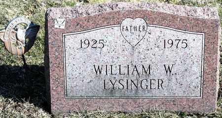 LYSINGER, WILLIAM W - Richland County, Ohio | WILLIAM W LYSINGER - Ohio Gravestone Photos