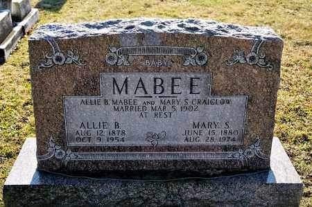 MABEE, ALLIE B - Richland County, Ohio | ALLIE B MABEE - Ohio Gravestone Photos