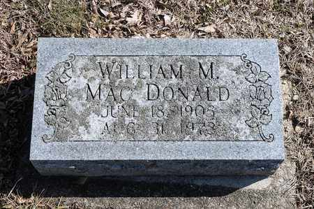 MACDONALD, WILLIAM M - Richland County, Ohio | WILLIAM M MACDONALD - Ohio Gravestone Photos