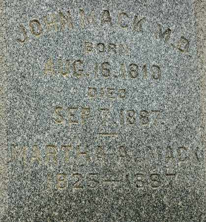 MACK, MARTHA A - Richland County, Ohio | MARTHA A MACK - Ohio Gravestone Photos