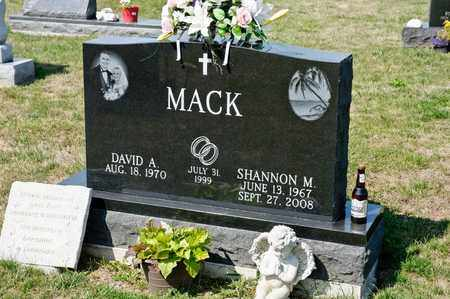 MACK, SHANNON M - Richland County, Ohio | SHANNON M MACK - Ohio Gravestone Photos