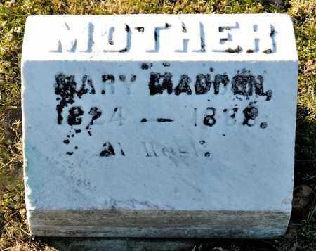 MADDEN, MARY - Richland County, Ohio | MARY MADDEN - Ohio Gravestone Photos