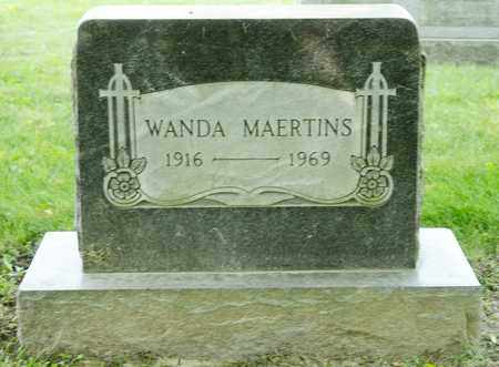 MAERTINS, WANDA - Richland County, Ohio | WANDA MAERTINS - Ohio Gravestone Photos