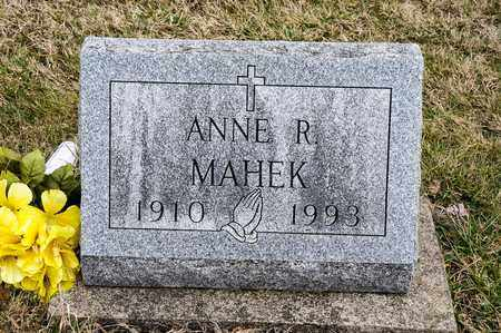 MAHEK, ANNE R - Richland County, Ohio | ANNE R MAHEK - Ohio Gravestone Photos