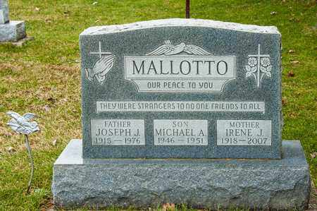 MALLOTTO, JOSEPH J - Richland County, Ohio | JOSEPH J MALLOTTO - Ohio Gravestone Photos