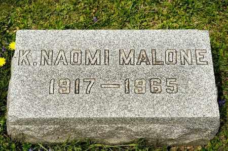 MALONE, K NAOMI - Richland County, Ohio | K NAOMI MALONE - Ohio Gravestone Photos