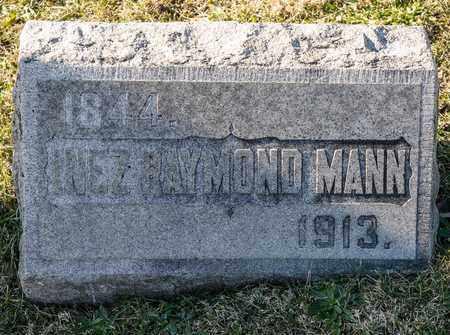 MANN, INEZ RAYMOND - Richland County, Ohio | INEZ RAYMOND MANN - Ohio Gravestone Photos