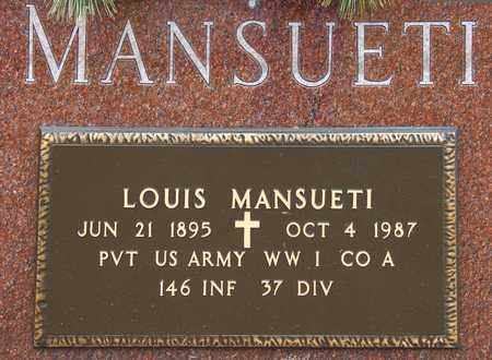 MANSUETI, LOUIS - Richland County, Ohio | LOUIS MANSUETI - Ohio Gravestone Photos