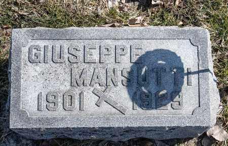MANSUTTI, GIUSEPPE - Richland County, Ohio | GIUSEPPE MANSUTTI - Ohio Gravestone Photos