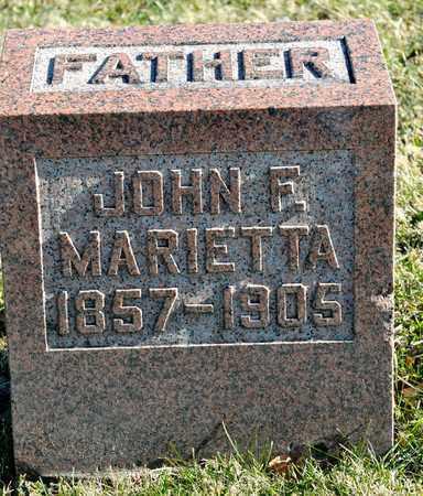 MARIETTA, JOHN F - Richland County, Ohio | JOHN F MARIETTA - Ohio Gravestone Photos