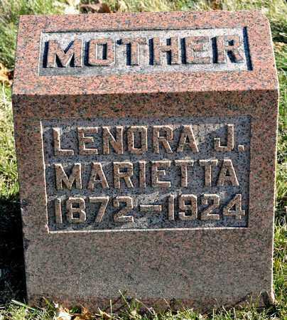 MARIETTA, LENORA J - Richland County, Ohio | LENORA J MARIETTA - Ohio Gravestone Photos