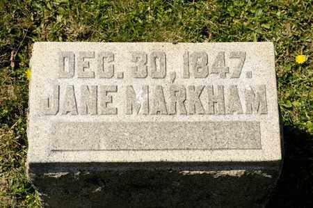 MARKHAM, JANE - Richland County, Ohio | JANE MARKHAM - Ohio Gravestone Photos