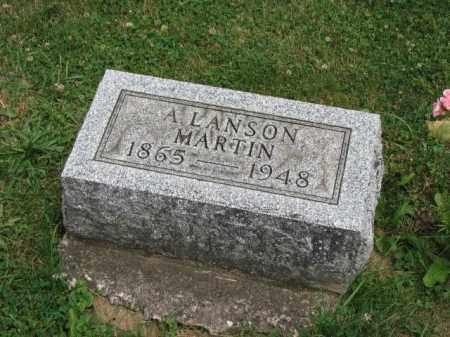 MARTIN, A. LANSON - Richland County, Ohio | A. LANSON MARTIN - Ohio Gravestone Photos