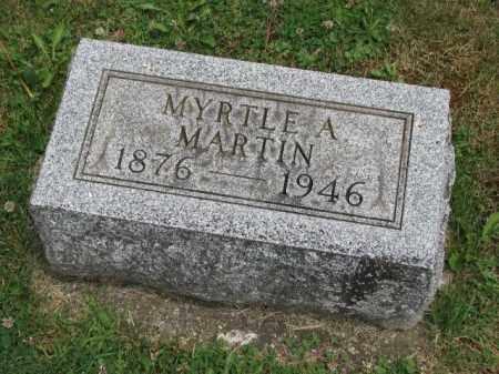 MARTIN, MYRTLE A. - Richland County, Ohio | MYRTLE A. MARTIN - Ohio Gravestone Photos