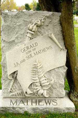 MATHEWS, GERALD - Richland County, Ohio | GERALD MATHEWS - Ohio Gravestone Photos
