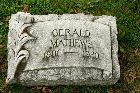 MATHEWS, GERALD - Richland County, Ohio | GERALD MATHEWS - Ohio Gravestone Photos
