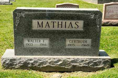 MATHIAS, WALTER F - Richland County, Ohio | WALTER F MATHIAS - Ohio Gravestone Photos