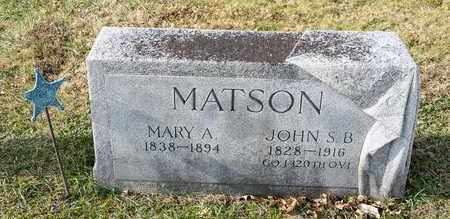 MATSON, MARY A - Richland County, Ohio | MARY A MATSON - Ohio Gravestone Photos