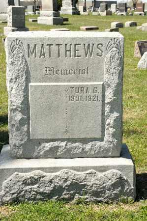MATTHEWS, TURA G - Richland County, Ohio | TURA G MATTHEWS - Ohio Gravestone Photos