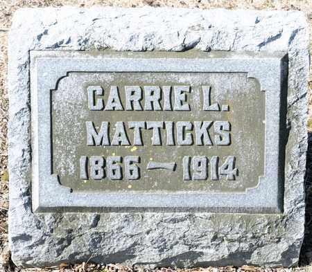 MATTICKS, CARRIE L - Richland County, Ohio | CARRIE L MATTICKS - Ohio Gravestone Photos