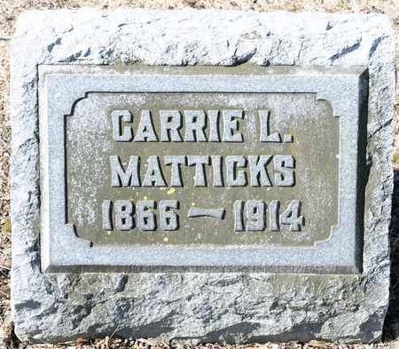 MATTICKS, CARRIE L - Richland County, Ohio | CARRIE L MATTICKS - Ohio Gravestone Photos